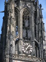 Lambertskirche, Mnster, Germany (chuha) Tags: church germany gothic clocktower muenster 16thcentury ironbaskets