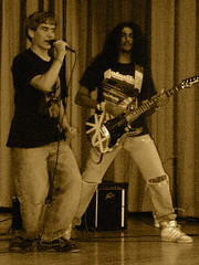 I'm with the band. (36 Chambers) Tags: sexy rock metal guitar band player 1984 heat latino hendrix adidas judaspriest