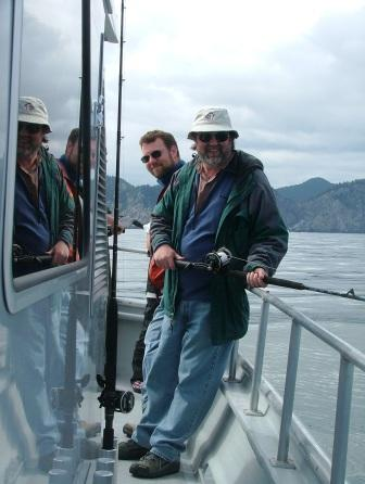Me and Dad fishing for Alaskan halibut