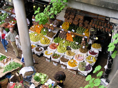 vegetable- and fruit-market at funchal