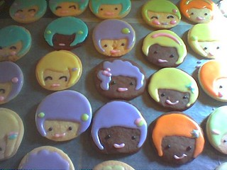 Girl Face Easter Cookies