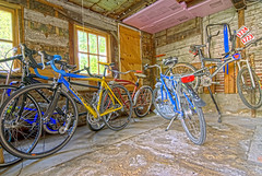 the bike barn (Ben McLeod) Tags: bike trek nikon garage marin bikes masi mtb d200 hdr breezer nikond200 sigma1224mmf4556dg 8xp 8exposures someofmybikes