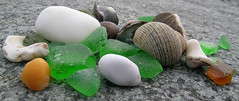 Sea Glass etc. - Massachusetts (adamantine) Tags: green beach glass stone rocks treasure massachusetts smooth shell pebble shore seashell seashore rounded seaglass nahant beachcombing
