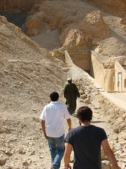 Crazy guy leading us the wrong way to Hatshepsut's Temple (joliexis) Tags: luxor ancientegypt
