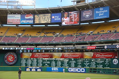 RFK Stadium Scoreboard (Scott Ableman) Tags: clock d50 washingtondc allen realestate baseball stadium howard houston monk frenchfries case mcdonalds marshall explore 25 hamburger taylor toyota cox travis billboards dudley geico pepsi mitchell scion griffith wynn gibson budweiser nationals 42 scoreboard huff moseley fischer kilmer lombardi hinton battles rfkstadium mlb baugh rfk 380 washingtonpost hodges pnc cronin yost grimm outfield butz theismann lebaron washingtonnationals cooke jacoby riggins pepco goslin redhotblue millner cheapseats hauss 18200mmf3556gvr interestingness498 i500 longfoster jurgensen explore24may06 marlonbyrd natca ownens
