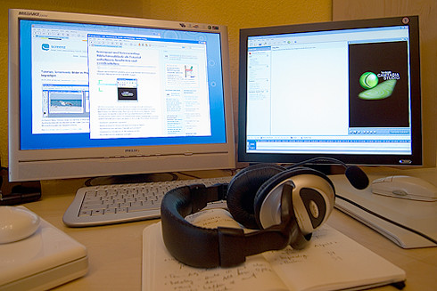 Screencast setup by Manuela Hoffmann, on Flickr
