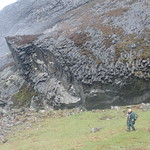 Columnar jointing of the lava flows of the Sgurr of Eigg thumbnail