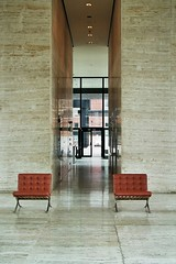 060039_ (bas kegge) Tags: ca canada stone architecture arquitectura apartments chairs quebec montreal interior entrance modernism architektur miesvanderrohe marble travertine mies  architettura architectuur mimari barcelonachair travertin  a