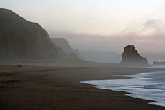 Sunrise at Irish Beach (Sharon Mollerus) Tags: ocean california sea beach sunrise dawn pacificocean irishbeach mendocinocoast lovephotography qd10