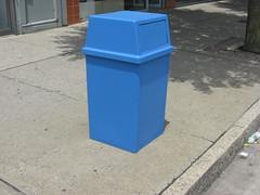 Blue Trashcan (iirraa) Tags: new city blue newjersey nj atlantic atlanticcity jersey trashcan