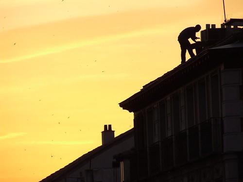 El pianista sobre el tejado