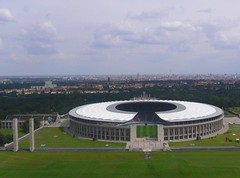 Renovated Berlin Olympic Stadium seen from above, Germany (phototouring) Tags: city roof urban panorama building berlin cup sports grass silhouette sport skyline architecture 1936 buildings wow germany landscape deutschland landscapes town football scenery europe cityscape stadium stadiums fifa soccer famous north cities silhouettes cityscapes skylines panoramas aerial fromabove arena final german finals views olympics renovation towns urbanism olympicstadium fromtheair sights attraction attractions birdseye aerials charlottenburg renovated westberlin olympiastadion urbanization hertha northerneurope bsc worldcup2006 urbanisation sportarena olympischerplatz sportarenas