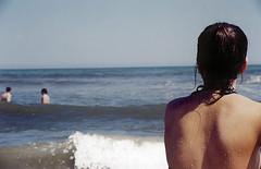 liz (eatingsnowflakes) Tags: ocean portrait liz beach girl back newjersey shore wildwood waterdroplets 123njpeople