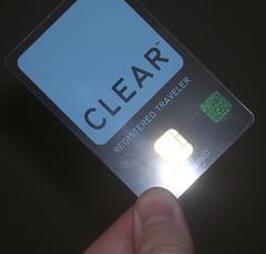 Clear Registered Traveler card