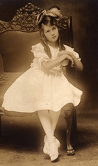 Vintage Portrait of a Young Lady (Tobyotter) Tags: ohio blackandwhite bw girl beautiful vintage child canton empiregallery vintagescans