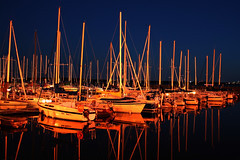 Marina at night (manitou2121) Tags: night sailboat marina sail bateau nuit voile commentsbest