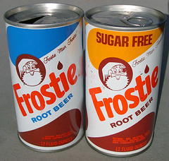 Frostie Root Beer Cans, 1970