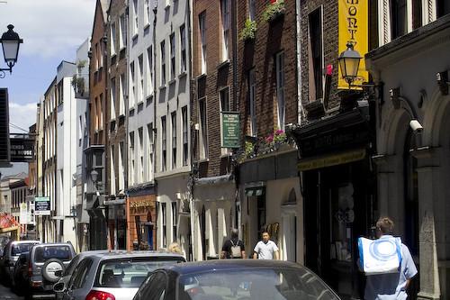 Street in Templebar Dublin, Ireland
