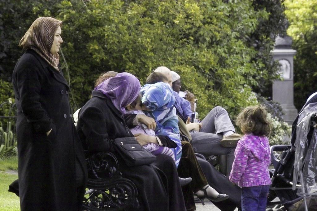FAMILY IN STEPHENS GREEN