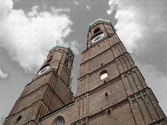 Under a sky of ash (Sprake) Tags: city sky favorite tower church munich mnchen pattern view frauenkirche depth favorited olympusmju thebiggestgroup sprake ktornbjerg