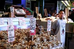World Famous Pike Place Fish (Quixotic Pixels) Tags: fish farmersmarket market seafood pikeplacemarket crabs utataspeaks5 fatcrabs
