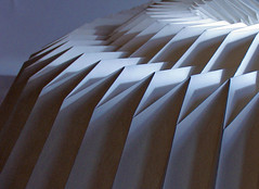 Paper Pleat (Richard Sweeney) Tags: sculpture art geometric paper paperart design origami fineart craft architectural repetition kirigami folded paperfolding folding papercraft pleated papersculpture artsculpture paperstructure origamicarchitecture  richardsweeney architecturalorigami paperpleating abigfave