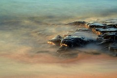 Slowly sinking (Ray Byrne) Tags: longexposure sea water canon 350d dawn coast morninglight rocks north northumberland shore northumbria northeast ndfilter embleton raybyrne lownewtonbythesea tenstopsofdarkness byrneout byrneoutcouk webnorthcouk