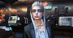 Can you help me occupy my brain? (Flit Ulrik // Agent Orange) Tags: secondlife second life sl kunst bar pub club drink drinking booze alcohol sunglasses redgrave gabriel long hoodie coat signature event modulus lars hair catwa limit8 bullet necklace tags pocket watch slim cigarette swallow rox ears dystopia short andro androgynous computer video game avatar digital art concept design painting with light lighting shadows people indoor fridge beer wine racks juke box posters female bolson tattoo smoking smoke after hours