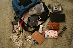 january 4 2007 (Superchou) Tags: camera blue money oneaday sunglasses book ipod calendar wallet makeup stuff photoaday beatles slate pens timbuk2 shuffle meds sephora moleskein 142007