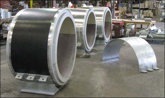 Cryogenic Insulated Supports with Acoustic Pads