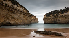 Loch Ard Gorge (djryan78) Tags: ocean road longexposure winter sea wild cliff beach rock landscape coast sand long exposure afternoon wind bass outdoor great windy cliffs shipwreck gorge loch greatoceanroad strait ard lochardgorge lochard bassstrait shipwreckcoast