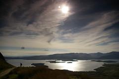 Lone walker (Sue Langford) Tags: walking scotland pentax lochlomond westhighlandway conichill pentaxk100dsuper largeoutdoorscom
