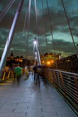 Ghosts (Kasia Mijakowska) Tags: bridge london night ghosts hungeford