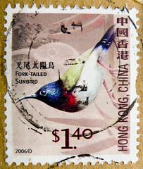 great stamp Hong Kong, China $1.40 fork-tailed sunbird ( Aethopyga christinae; , Souimanga de Christina, Ht mt ui ch, Hainan-Nektarvogel, Vorkstaarthoningzuiger, Gaffelstjrtad solfgel)  Briefmarke  Postzegel zegel zegels postzegel  (stampolina) Tags: china color colour bird birds postes hongkong colorful asia asien stamps stamp vgel tem commonwealth postzegel bunt vogel sunbird selo bolli sello sellos briefmarken frimrken briefmarke   francobollo selos timbres frimrker  francobolli bollo  forktailedsunbird aethopygachristinae zegels  zegel znaczki markica  perangko frimerker pullar   nektarvgel    blyegek  antspaudai raztka souimangadechristina htmtuich vorkstaarthoningzuiger gaffelstjrtadsolfgel