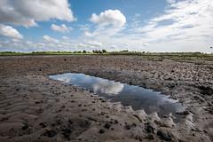 mini-lake (alouest225) Tags: sky france reflection beach water clouds landscape sand nikon eau sable reflet ciel d750 nuages paysage plage bassindarcachon aquitaine gironde
