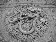Bas relief dragon (Tim Ravenscroft) Tags: china blackandwhite dragon beijing imperial forbiddencity imperialpalace basrelief inlay