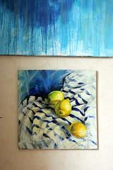 citrus#summer (Olga Flerova) Tags: stilllife nature painting lemon canvas oil citrus naturemorte