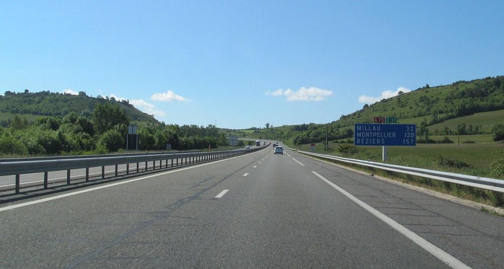 A75 121 European Roads Tags France De La Autoroute Millau Viaduc