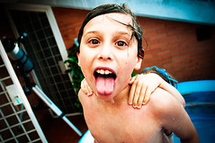 Smile (francesco_if ) Tags: summer portrait people water smile kids swimming children games persone swimmingpool ritratto