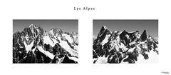 Les Alpes (Kasper Veenstra) Tags: blackandwhite mountain alps monochrome alpes high view montblanc 105mmmacro chamonixmontblanc aguilledumidi hautealpes nikond800