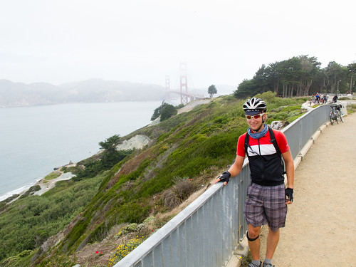 Devin at the Golden Gate overlook