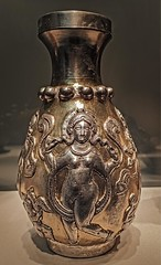 Sasanian Silver and Gilt Bottle with nude dancer probably representing a maenad, companion of Dionysus 6th-7th century CE (mharrsch) Tags: metal female silver nude washingtondc smithsonian bottle ancient iran persia dancer mythology gilt sacklergallery dionysus maenad sasanian 7thcenturyce 6thcenturyce mharrsch