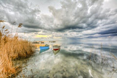 Cloud show (Nejdet Duzen) Tags: travel sunset reflection t boat fishing cloudy trkiye sandal karina dalyan gnbatm yansma aydn ske bulutlu turkeit seyahaurkey