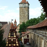 town wall and tower