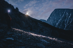 The next morning the moon was guiding us... (rawmeyn | Filmmaker & Photographer) Tags: austria tirol outdoor hiking wandern tyrol gh2