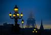 Parisian pollution (jbrambaud) Tags: paris eiffel tower night lights clouds pollution bridge