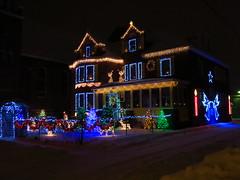 Audacious Christmas House (jgagnon63@yahoo.com) Tags: christmas house christmaslights christmasdecorations escanaba december deltacountymi uppermichigan canons110 nightphotography night