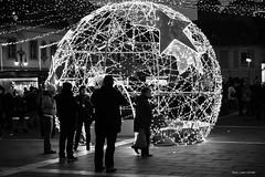 (Laszlo Horvath.) Tags: eger hungary advent karácsony christmas lights cube dobó square tér nikond7100 nikkor50mmf18g