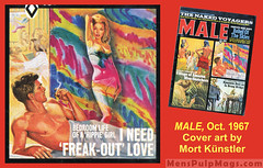MALE, Oct 1967. Art by Mort Kunstler (SubtropicBob) Tags: men'sadventuremagazines men'spulpmagazines pulpmagazines men'spulpadventuremagazines pulp pulpart pulpfiction vintage retro men'smagazines illustration illustrationart goodgirlart gga covers coverart mortkunstler malemagazine hippies lsd freakout