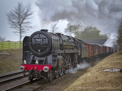 Reliving the GC Freights (70C Photography) Tags: 70013 olivercromwell zoompan canon7d tle january outdoor landscape greatcentralrailway steam railways trains